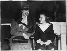 Shirley's first visit with Eleanor Roosevelt.  During the filming of Little Miss Broadway, 1938.