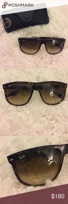 Ray Ban women's sunglasses Tortoise colored RayBan women's sunglasses! Great condition, barely worn. Plus case and wipe. Ray-Ban Accessories Sunglasses