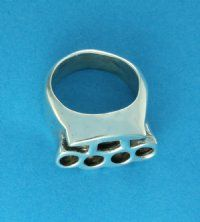 Sterling Silver Brass Knuckles Ring