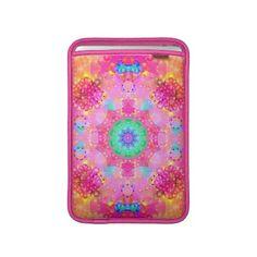 Pink Stars & Bubbles Fractal Pattern Macbook Sleeves $50.60