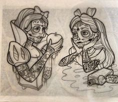 Disney princess sugar skull