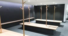 The Fitness Centre offers two large male and female changing rooms. Each changing room has hot showers and toilet facilities, plus plenty of bench space for a quick suit-up. Lockers are available to hire in each changing room.