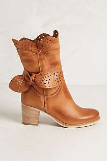 Anthropologie - Scallop-Tied Booties.... Gettin' these! Love!