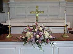 Flower Arrangements For Church Altar | Church Wedding Flowers | Buffalo Wedding & Event Flowers by Lipinoga ...