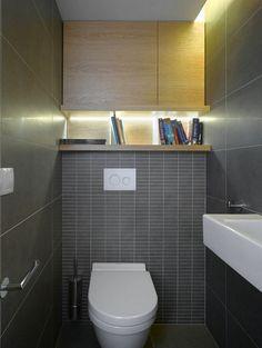 дизайн стены за унитазом