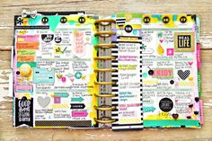 painty May weekly spread in the Happy Planner of mambi Design Team member Stephanie Buice | me & my BIG ideas