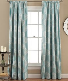 Blue Kristen Curtain Panel - Set of Two