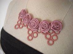 Ketten kurz - Halsschmuck Blatt und Blüte - ein Designerstück von kirashi bei DaWanda