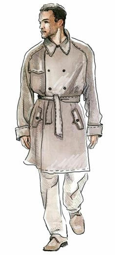 Trench Coat - Sewing Pattern #6030 Made-to-measure sewing pattern from Lekala with free online download.