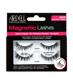 Ardell Double Demi Wispies Magnetic Eyelashes Black Free 3 Day Shipping New Applying False Lashes, Applying Eye Makeup, Natural Eyelashes, Fake Eyelashes, Double Eyelashes, Faux Cils Ardell, Eyeliner For Beginners, Magnetic Lashes, Makeup