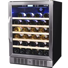 NewAir AWR-520SB 52 Bottle Single Zone Compressor Wine Cooler