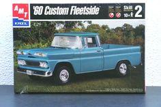New AMT ERTL 1960 Chevrolet Custom Fleetside 1/25 Model Kit #6310 Factory Sealed #AMT
