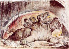 Cerberus-Blake--Manual de zoología fantástica, later El libro de los seres imaginarios de Jorge Luis Borges