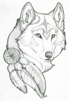 Wolf dreamcatcher feather #Woodburningpatterns