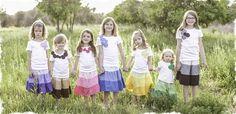 adorable skirts!  I love them!