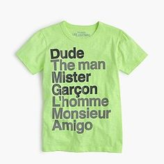 "Boys' ""Dude"" T-shirt"