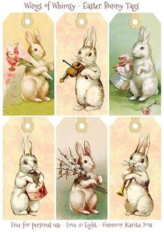 papers.quenalbertini: Vintage Easter Bunny Tags