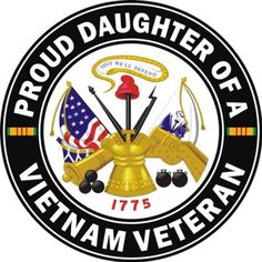 US Army Proud Daughter of a Vietnam Veteran Decal Sticker Army Decals