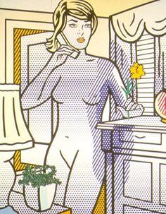 """Roy Lichtenstein's """"Nude With Yellow Flower"""""""