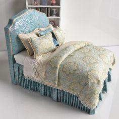 Fabulous French Blue & Gold BED by Lorraine Scuderi Dollhouse Miniature | Куклы и мягкие игрушки, Миниатюры кукольных домов, Предложения художников | eBay!