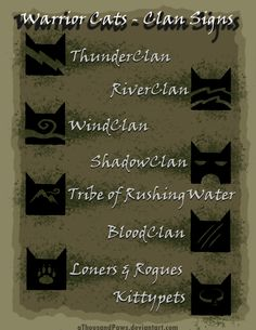 Warrior Cats - The Clans by aThousandPaws.deviantart.com on @deviantART