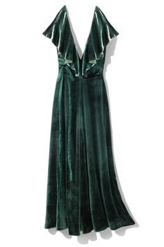 Lucious forest green velvet is the ultimate holiday temptation.
