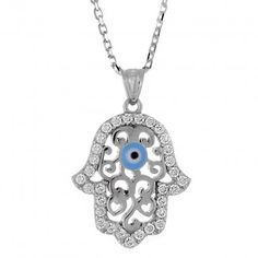Hand of Fatima Evil Eye Necklace