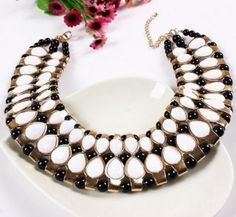 Large and in charge! Egyptian style necklace $9.95  http://charmingchunkynecklaces.com/ #chunky #gold #necklace #necklaces