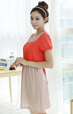pretty orange collar and lace dress