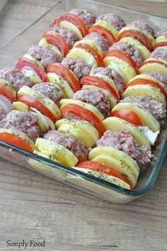 Simply Food: Kotleciki mielone zapiekane z ziemniakami pod pomi...