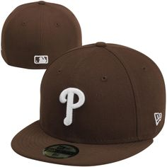 New Era Philadelphia Phillies 59FIFTY Fashion Fitted Hat - Brown New Era  59fifty bf06971464ad