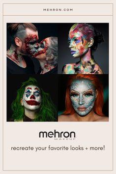 We're experts in makeup. Mehron has been the go-to Pro makeup brand since 1927! Airbrush Makeup Kit, Mehron Makeup, Makeup Brands, Best Makeup Products, Performance Makeup, Creative Eye Makeup, Halloween Makeup Looks, Makeup Designs, Costume Makeup