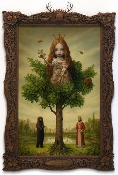 The Tree of Life by Mark Ryden.  He has his amazing frames carved in Thailand