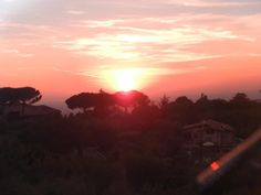 The view from our garden reception at the Villa. Lovely sunset
