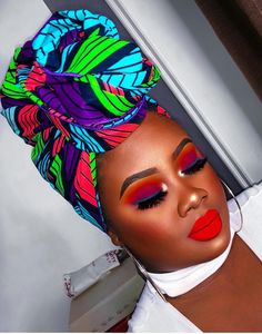 20 Beautiful and Creative Head Wrap Styles Hair Wrap Scarf, African Head Wraps, Turban Style, Looks Black, Scarf Hairstyles, Black Hairstyles, Dark Skin, Brown Skin, Brown Eyes