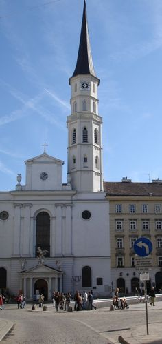 This photo shows the amassing Romanesque St. Micheal's Church.