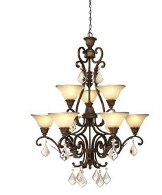 Artcraft AC1829 Florence 32 Inch Two Tier Chandelier