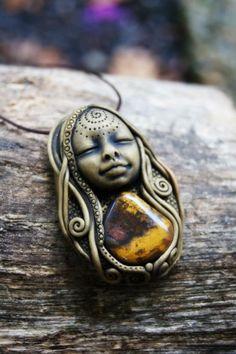 Vibrant Earth Medicine Goddess Necklace Botswana Agate by TRaewyn