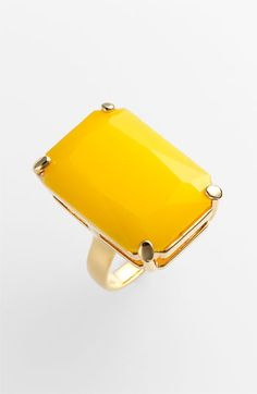 Kate Spade ring from Nordstrom.  Can't wear yellow next to my face, but am seriously coveting some yellow accessories for spring.