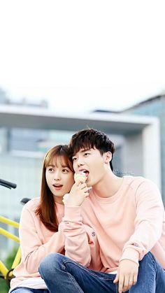 The Premium Vitamin. Non GMO, all organic. Drama Korea, W Korean Drama, Korean Drama Movies, Korean Actors, Lee Jong Suk Cute, Lee Jung Suk, Kpop Couples, Cute Couples, W Two Worlds Wallpaper