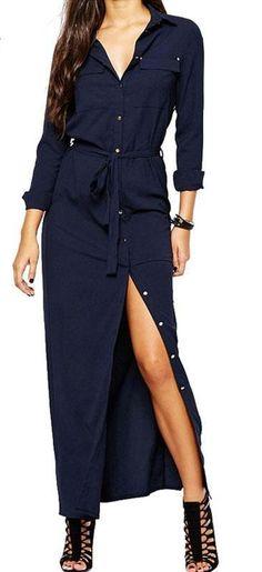 Women's dress long sleeve shirt open with buttons