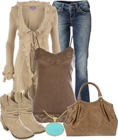 """Shades of Brown"" by denise-schmeltzer on Polyvore"