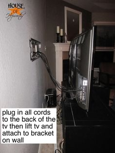 Mounting a TV with the cords in the wall - my plaster walls probably wouldn't do so well. :(