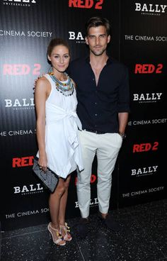 """Olivia Palermo and boyfriend Johannes Huebl attend The Cinema Society And Bally Host A Screening Of Summit Entertainment's """"Red at The Museum of Modern Art on July 2013 in New York City. Get premium, high resolution news photos at Getty Images Milan Men's Fashion Week, Girl Fashion, Mens Fashion, Stylish Couple, Cool Style, My Style, Olivia Palermo, Outfit Goals, Cinema"""