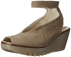FLY London Women's Yala Perforated Wedge Sandal * Check out this great image  : Wedge sandals