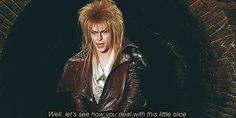 David Bowie Labyrinth Meme | gif mine 80s david bowie labyrinth goblin king Jareth the labyrinth