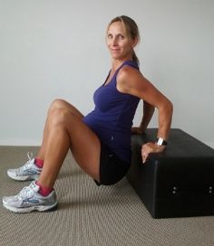 3 exercises to prep for labor/delivery: 1) squats 2) 4-point kneeling 3) tricep dips