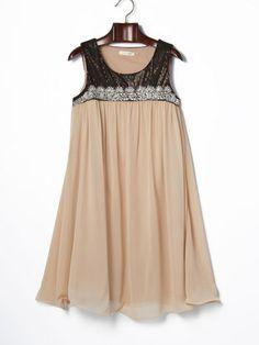 GREEN DALE GARNET - sequins chiffon sleeveless dress