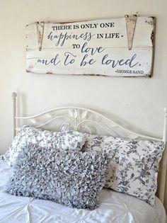 """""""To love and to be loved"""" Wood Sign {customizable} - Aimee Weaver Designs"""