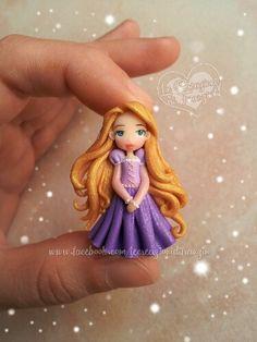 #rapunzel #tangled #disney #princess #fimo #polymer #clay #creazioni #franzin #handmade